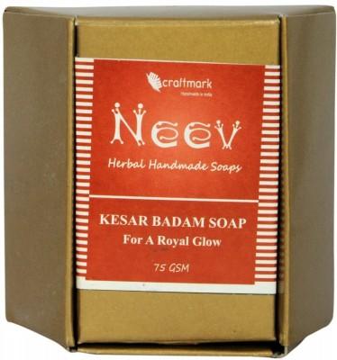 NeeV Herbals Kesar Badam Soap For A Royal Glow
