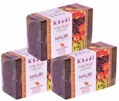 Khadimauri Mix Fruit Soap - Pack of 3 - Premium Handcafted Herbal