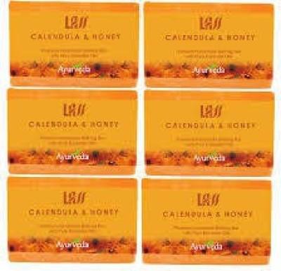 Lass Naturals Pack of 12 Lass Naturals LASS CALENDULA & HONEY Soaps