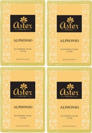 Aster Luxury Handmade Alphonso Soap 125g - Pack of 4