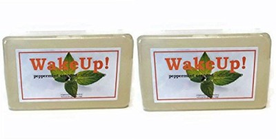 Soapmarket Wake Up Caffeinated Peppermint Soap - Pack of 2 Bars