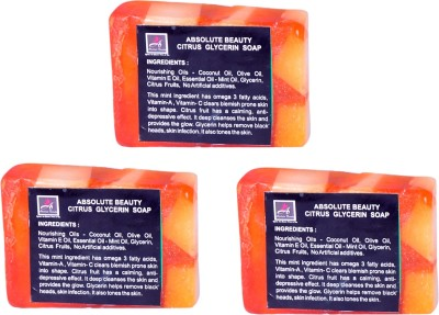 Absolute Beauty Citrus Glycerin Whitening Glow Skin Care Handmade Fairness Soap Combo-3