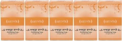 Sattvik Orange Scrub Soap Pack Of 5