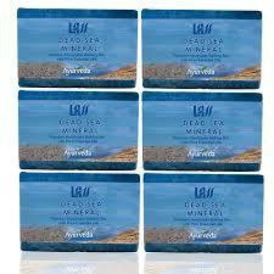 Lass Naturals Pack of 12 Lass Naturals LASS DEAD SEA MINERAL SOAP