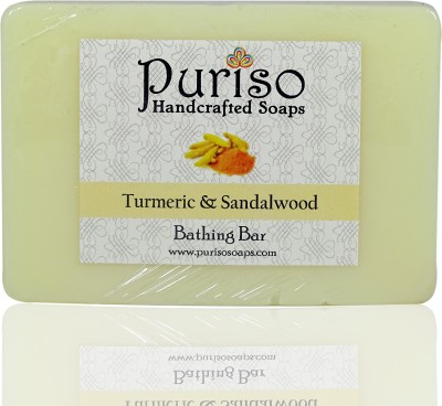 Puriso Handcrafted Soaps -Turmeric & Sandalwood Bathing Bar (100g)