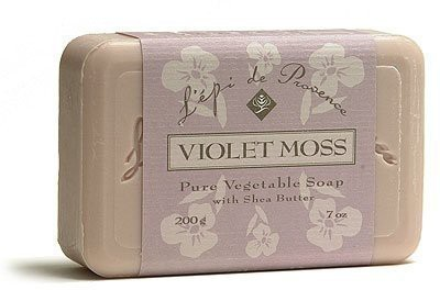L,Epi de Provence Shea Butter Enriched French Bath Soap - Violet Moss