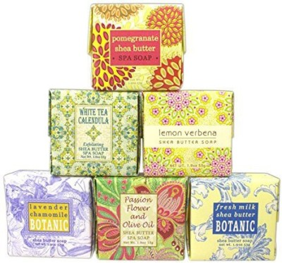 Greenwich Bay Trading Company Bundle of 6 Soaps in The Following Scents