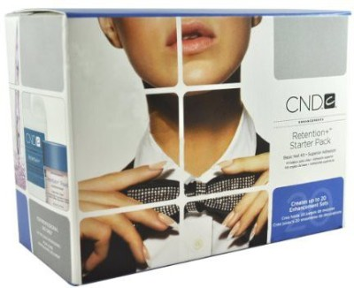 CND Cosmetics Enhancement Retention Liquid Powder Starter Pack + SolarOil Acrylic Nail Kit
