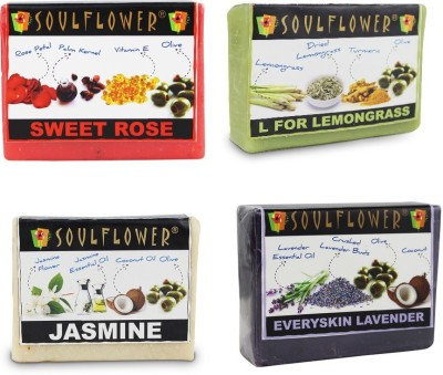 Soulflower Smell Good Soap Combo 4