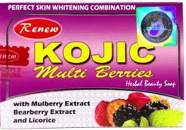 Renew Kojic Multi Berries Herbal & Skin Fairness Soaps 100%(135 g)
