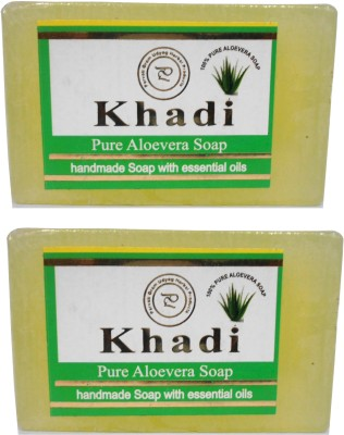 Khadi Herbal NaturalPure Aloevera Soap Pack Of 2