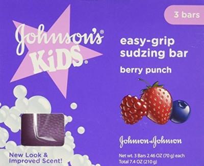 Johnsons Kids Super Sudzer E-Z Grip Soap Berry Breeze - 3 CT(210 g)