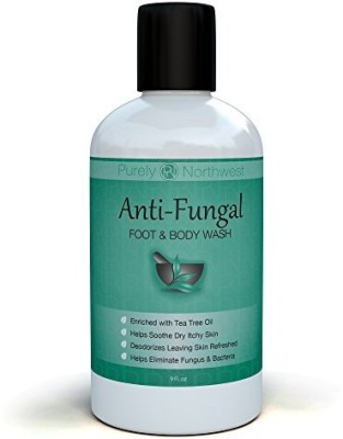Purely Northwest Antifungal Soap with Tea Tree Oil Helps Treat & Wash Away Athletes Foot Ringworm Nail Fungus Jock Itch Body Odor & Acne. Antibacterial Defense Against Common Fungal and Bacteria Related Skin Irritations