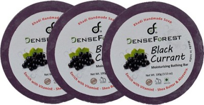 Dense Forest Khadi Black Currant Soap (Pack of 3)