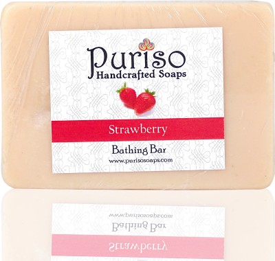 Puriso Handcrafted Soaps Strawberry Bathing Bar- Active Series
