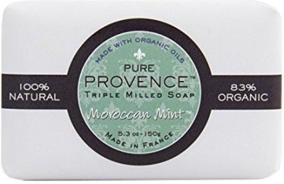 Ton Savon Pure Provence Natural and Organic Triple Milled Soap bar. Made in France. With Organic Shea Butter - Moroccan Mint
