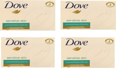 Dove Sensitive Skin Beauty Bar Imported Version (Pack of 4) 135g Each