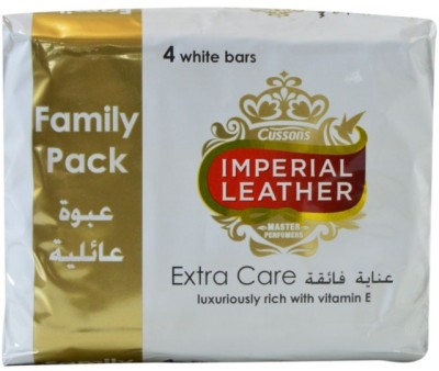 Imperial Leather Cussons Extra Care Luxuriously With Vitamin E Family bars ( Pack of 4 )