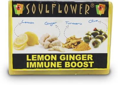 Soulflower Lemon Ginger Immune Boost Soap
