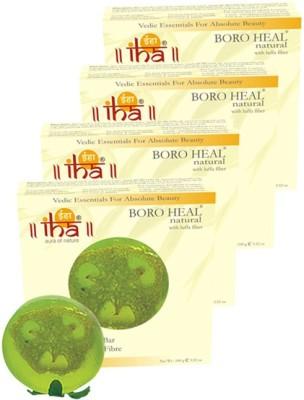 Iha Ayurvedic Footcare BORO HEAL Soap - With Scrub - Pack of 4