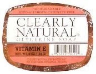 Clearly Natural Glycerine Bar Soap - Vitamin E ( Multi-Pack)