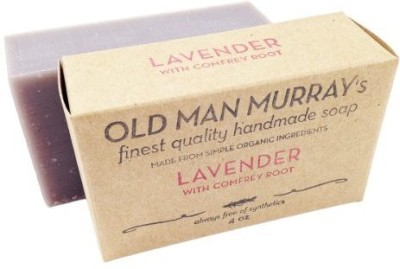 Old Man Murray's Lavender w/ Comfrey Root All-Natural Soap (2 Bars) - Handmade w/ Simple Organic Ingredients - No Parabens Alcohol Petroleum Artificial Dyes or Fragrances