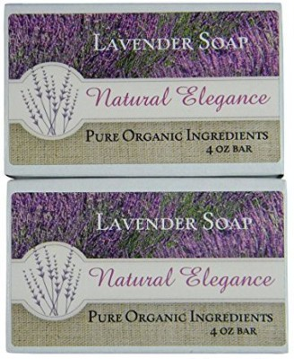 KMD Direct Natural Elegance Pure Organic Soap Made With USDA Certified Organic Ingredients Available In 10 Unique Blends (Lavender Soap Pack of 2)