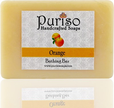 Puriso Handcrafted Soaps Orange Bathing Bar- Active Series