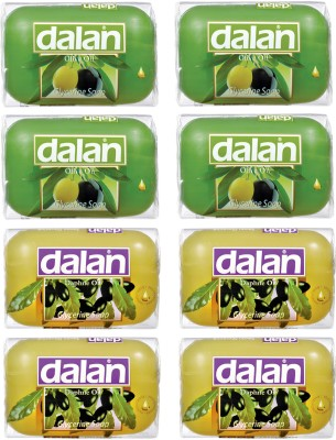 Dalan Glycerine Soap 8 Pack Combo of Olive & Daphne Oil