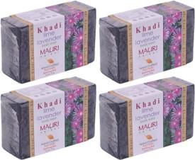 Khadi Mauri Lime-Lavender Soap - Pack of 4 - Premium Handcrafted Herbal