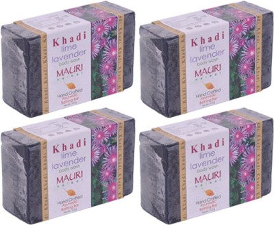 Khadimauri Lime-Lavender Soap - Pack of 4 - Premium Handcrafted Herbal
