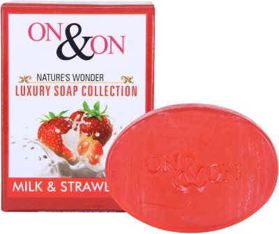 On & On Natures Luxury Strawberry & Milk Soap