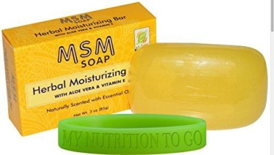 At Last Naturals MSM Herbal Soap (2 Pack) Includes a My Nutrtion To Go Wrist Band
