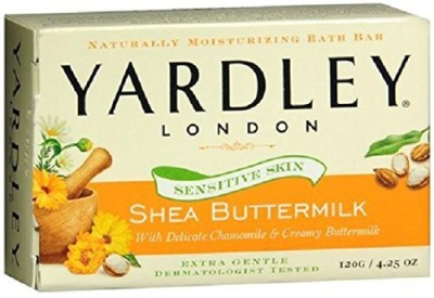Yardley of London Shea Buttermilk Bath Bars Sensitive Skin (Pack of 4)