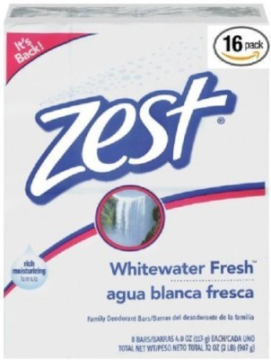 Zest Family Deodorant Soap (16 Bars) (Whitewater Fresh)