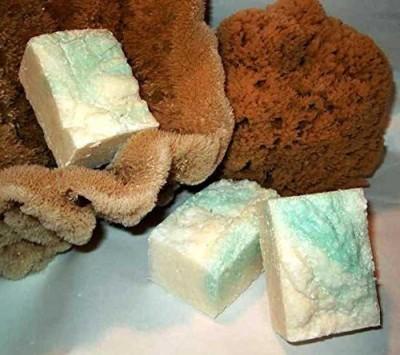 Indigo Bath and Body, LLC Mediterranean Lime Salt Bar - Exfoliating Sea Salt Shaving Soap