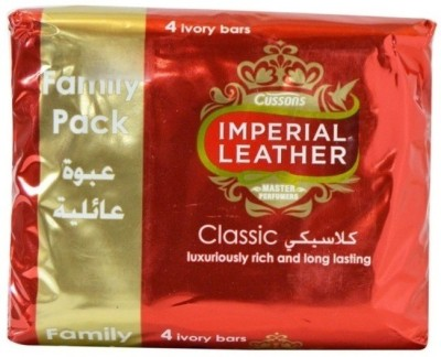 Imperial Leather Cussons Classic Luxuriously And Long Lasting Soap Bars ( Pack of 4 )