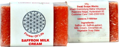 FLOWER OF LIFE -KHADI SAFFRON MILK CREAM SOAP