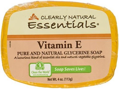 Clearly Natural Vitamin E Glycerine Bar Soap- 6 per case.