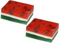Nakoda Feelings Handcrafted Watermrlon Bathing Soap Pair(200 g)