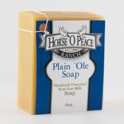 Horse ,O Peace Ranch Handmade Herbal 100% Raw Goat Milk Plain ,Ole Soap