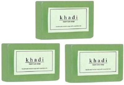 Khadi Herbal NaturalNeem Tulsi soap - pack of 3