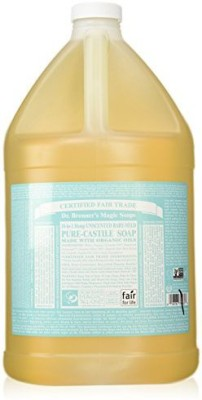 Dr. Bronner's Fair Trade & Organic Castile Liquid Soap - (Baby Unscented - 2 Pack)