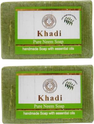 Khadi Herbal NaturalPure Neem Soap Pack Of 2