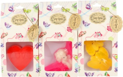 Soap Opera Butterfly + Angel + Message Heart Designer Handcrafted Bathing Bar