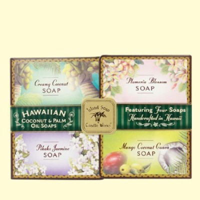 Island Soap & Candle Works Hawaiian Coconut & Palm Oil Soap Set