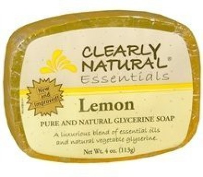 Select Nutrition Clearly Natural Glycerine Soap Bar Lemon 4 pack (image may vary)
