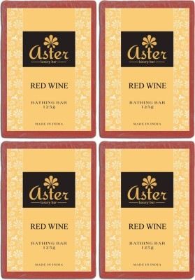 Aster Luxury Red Wine Soap - Pack of 4