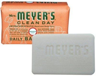 Mrs. Meyers Clean Day Mrs. Meyers Bar Soap Hard Geranium Scent Pack of 12