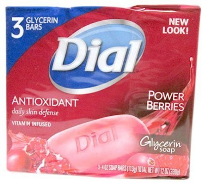 Dial AntiOxidant with Power Berries Vitamin Infused Glycerin Bar Soap 3 bars (pack of 2)